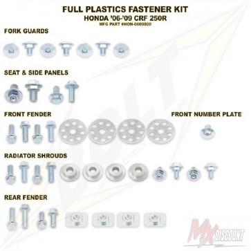 Bolt Full Plastic Bevestigings Kit crf 250 06-09