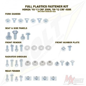 Bolt Full Plastic Bevestigings Kit crf 250 10-13 450 09-12