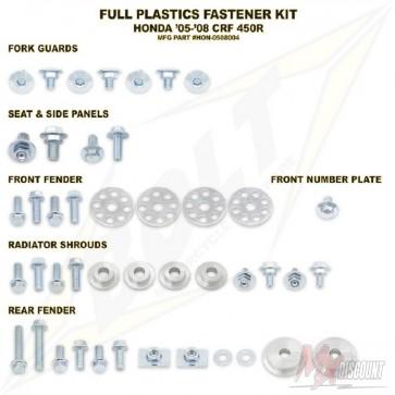 Bolt Full Plastic Bevestigings Kit crf 450 05-08