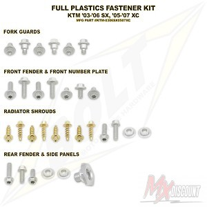Bolt Full Plastic Bevestigings Kit ktm sx 03-06