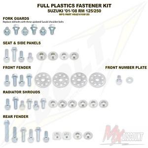 Bolt Full Plastic Bevestigings Kit rm 125 250 01-14