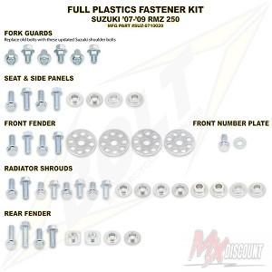 Bolt Full Plastic Bevestigings Kit rmz 250 07-09