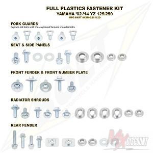Bolt Full Plastic Bevestigings Kit yamaha yz 125 250 02-19