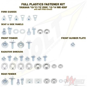 Bolt Full Plastic Bevestigings Kit yzf250 10-13