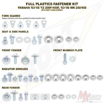 Bolt Full Plastic Bevestigings Kit yzf 250 450 03-05 wrf 03-06