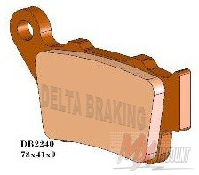 Delta Remblokken Achter Sintered Ktm 94-02 Tm 95-00 Husaberg -08 husq 94-04