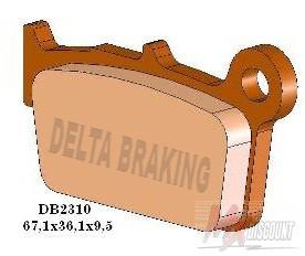Delta Remblokken Achter Sintered Kawasaki, Suzuki, TM, Yamaha