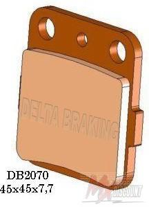 Delta Remblokken Voor Sintered cr80 85 86-07 crf150 07- Husq 92-94 kx 80 85 86-