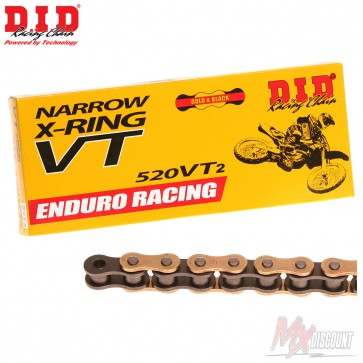DID 520 VT2 X-Ring Gold Motocross en Enduro Ketting 118 Schakels