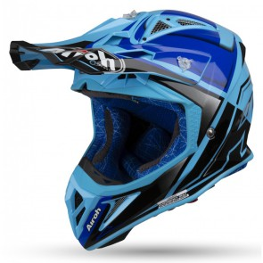 Airoh aviator 2.2 check blue gloss 2019 crosshelm