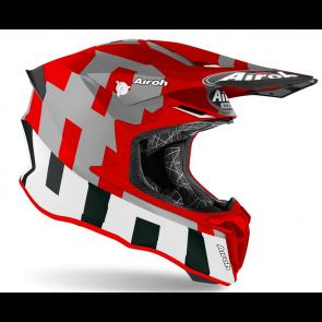 Airoh crosshelm twist 2.0 frame red matt