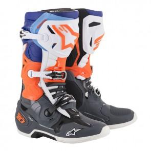 Alpinestars Tech 10 fluor oranje blauw zwart