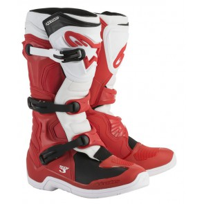 Alpinestars tech 3 crosslaarzen wit/rood