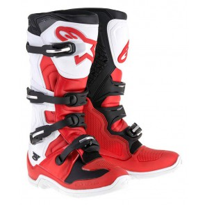 Alpinestars Tech 5 crosslaarzen rood wit