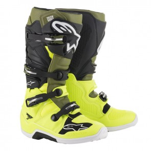 Alpinestars Tech 7 military groen geel