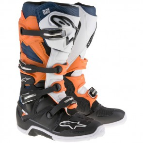 Alpinestars Tech 7 crosslaarzen Zwart Oranje 42-45.5