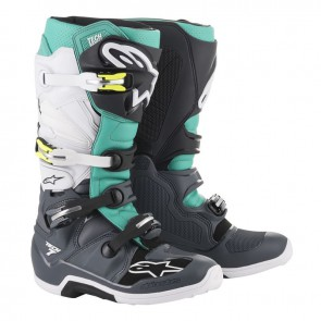 Alpinestars Tech 7 teal zwart wit