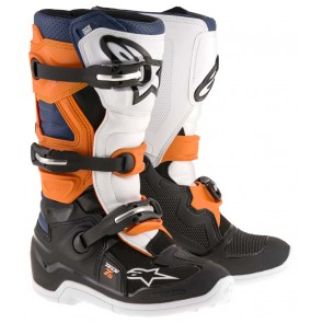 Alpinestars Tech 7s crosslaarzen orange wit Kids
