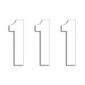Blackbird startnummers Stickers 3-pack 13x7cm