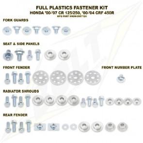 Bolt Full Plastic Bevestigings Kit cr 125 250 00-08 crf450 00-04