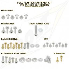 Bolt Full Plastic Bevestigings Kit ktm sx sxf 07-10