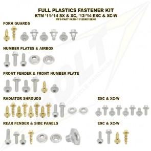 Bolt Full Plastic Bevestigings Kit ktm sx sxf 11-15 exc excf 12-15