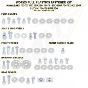 Bolt Full Plastic Bevestigings Kit kx125 250 04-08 kxf250 04-12 450 06-11