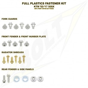 Bolt Full Plastic Bevestigings Kit sx50 02-17