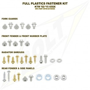 Bolt Full Plastic Bevestigings Kit sx65 02-15