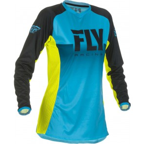 Fly racing lite dames cross shirt blauw