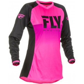 Fly racing lite dames cross shirt neon roze