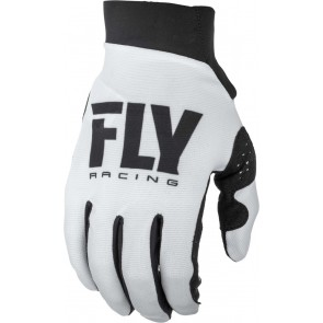 Fly racing lite dames cross handschoenen zwart-wit