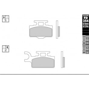 Galfer Sinter Voor remblokken Factory Gold kx65 00-