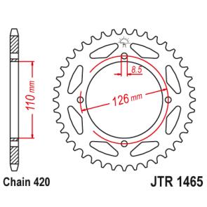 JT Staal Achtertandwiel rm kx 65 03-18