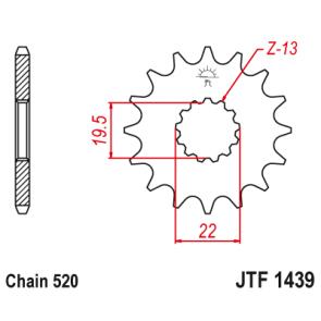 JT Voortandwiel suzuki gsx 250 90-94 14t