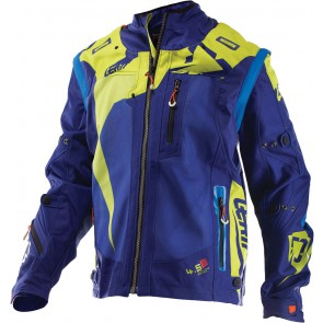 Leatt GPX 4.5 X-flow Enduro Jas Blauw Lime