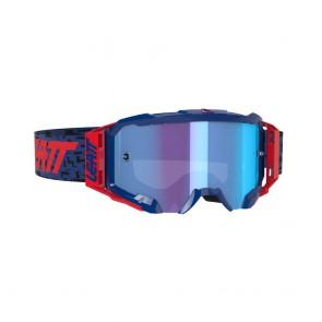 Leatt velocity 5.5 iriz light royal blue/red mirror crossbril