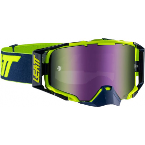 Leatt velocity 6.5 iriz lime purple navy crossbril
