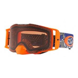 OAKLEY Frontline crossbril dazzle dyno oranje blauw