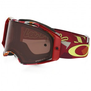 OAKLEY Airbrake Troy Lee Splinter Oranje Red Prizm Bronz Lens