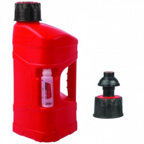 Polisport pro octane benzine can quick fuel 10l