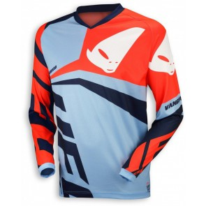 Ufo 2018 Vanguard cross shirt blauw/rood