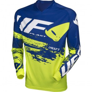 Ufo Draft cross shirt neon yellow/blue