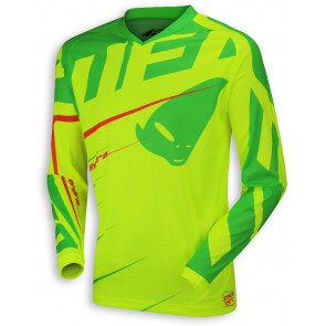 Ufo 2018 Hydra cross shirt groen/geel